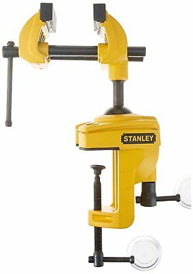 Stanley Work Bench Vice Multi Angle Table Clamp Swivel Home Diy