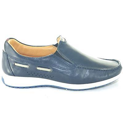 Scarpe uomo mocassini interland comfort man casual made in italy vera pelle  blu 984f8e30117