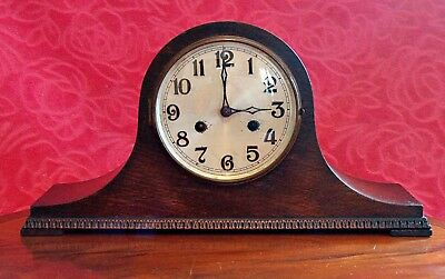 Vintage Art Deco German 'Haller' 8-Day Striking Mantel Clock