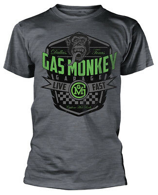 Gas Monkey Garage 'Live Fast' T-Shirt - NEW & OFFICIAL!