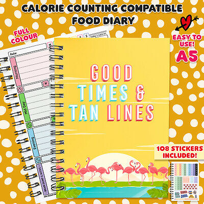 A5 Diet Diary Weight Loss Journal Sw Compatible Speed Easy 7 Weeks Countdown 33