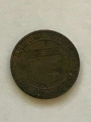 Vintage Arizona State Tax Commission Token Sales 1 Correct Payment Copper