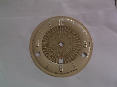 FACE  FROM AN OLD BENTIMA 4X4 CHIME  MANTLE CLOCK  OUTER 5 7/8 inch diam