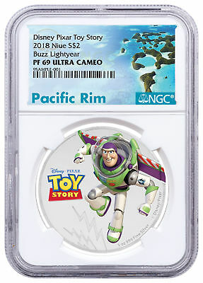 2018 Niue Disney Toy Story - Buzz Lightyear 1 oz Silver $2 NGC PF69 UC SKU53450