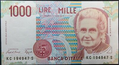 1990 Italy One Thousand Lire Note