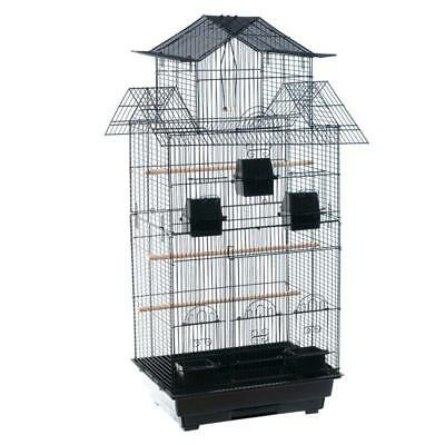 Cockatiel Large Parakeet Cage Small Parrot House With Wooden Toy Feeding Bowl