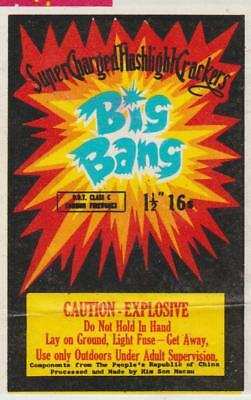 VINTAGE ORIGINAL BIG BANG Firecracker Label -  6.99  8a09a9d234b5