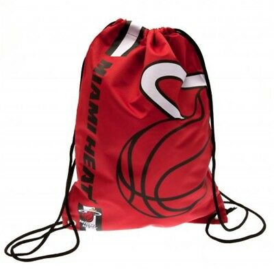Forever Collectibles Miami Heat Cropped Logo Drawstring Backpack Gym Sack