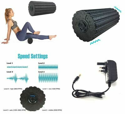 4 - Speed Vibrating Foam Electric Yoga Massage Roller Deep Tissue Muscle Massage