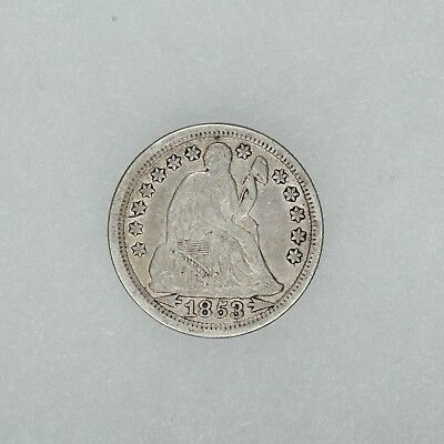 1853 Seated Liberty Dime 10C Vf / Xf Very Fine To Extra Fine (5053)
