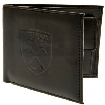 West Ham Football Club Official Leather Wallet Rfid Protection Team Crest Badge