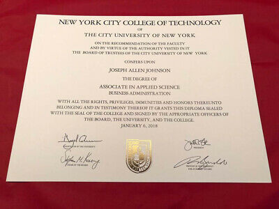 Fake Diploma A+ Foil Seals Best on eBay