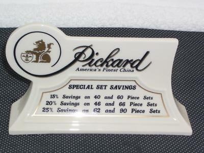 Pickard - America's Finest China - Porcelain Store Counter Display Sign