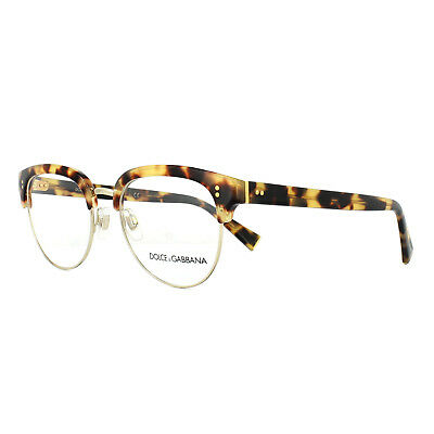 2dd95f0af3 Dolce   Gabbana Glasses Frames DG 3270 512 Light Havana Pale Gold 52mm Mens