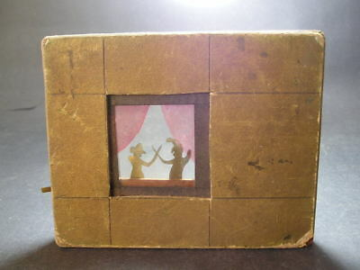 Early Mechanical Optical Toy Lever Wooden Lantern Slide Punch & Judy Fencing