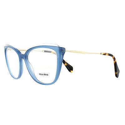 7c15c97a6458 Miu Miu Glasses Frames MU02QV VYC1O1 Blue Transparent Blue 53mm Womens