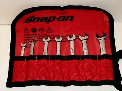 Snap On Spanner Set..4Mm To 9Mm...midget..new In Pouch..oxim707Sbk ...