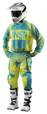 Answer Syncron Air Yellow/Blue Jersey & Pant Combo Set MX A17.5 Off Road Gear