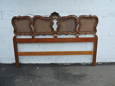 French Solid Cherry Caned King Size Headboard by John Widdicomb 8451