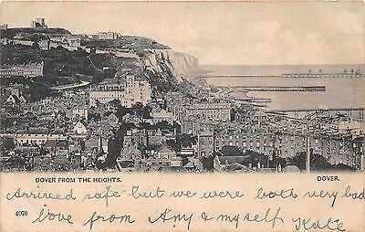 Dover Kent Uk Viewed From The Heights Postcard 1904