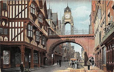 Chester Chestershire Uk Eastgate Street~Clock Tower Hugo Land & Co Publ Postcard