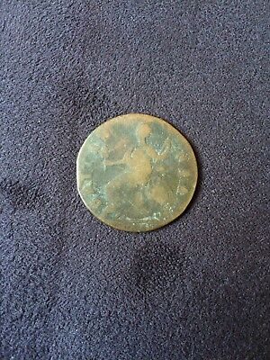 1776 George lll England Copper Colonial Half Penny Coin