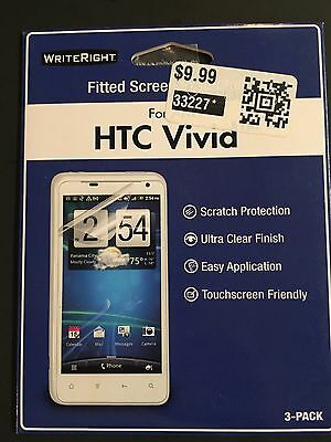 Pack of 3 Writeright screen protectors AT&T HTC Vivid