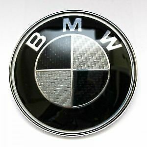 45Mm Black And Silver Carbon Style Steering Wheel Badge Suitable For Bmw