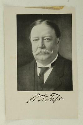 Vintage Book Plate Printed Photo & Autograph President WILLIAM HOWARD TAFT