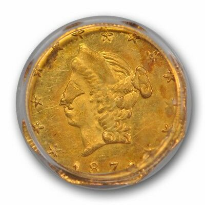 1874 50C BG-930 California Fractional Gold PCGS MS 64 Uncirculated OGH