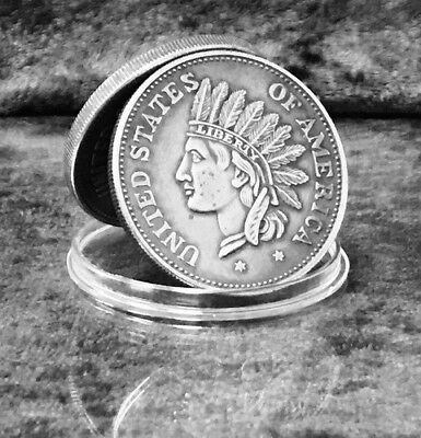 1851 $1 Indian Head Silver Token (EARLY HISTORICAL CURRENCY)