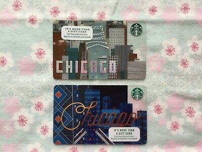 Starbucks Chicago Gift Card Set Of 2 New Unswiped