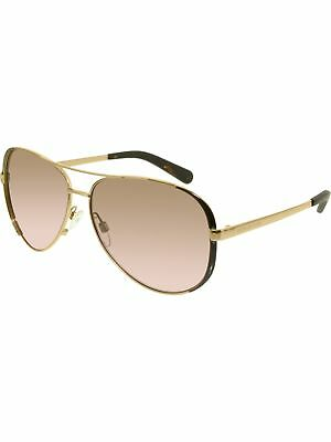 Michael Kors Women's Gradient Chelsea MK5004-101414-59 Gold Aviator Sunglasses