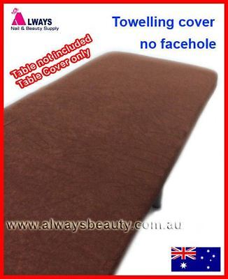 CHOCOLATE Towelling Cover Without Facehole for Massage Table Beauty Bed Covers