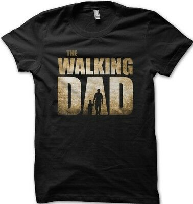 The Walking Dad Father Son Daughter Fathers Day Mens printed t-shirt OZ9152