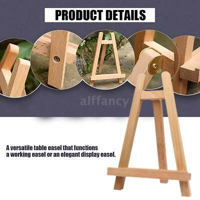 Tabletop Wood Easel Artist Art Display Frame Photo Painting Sketch Tripod Stand