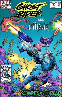 Ghost Rider and Cable #1 1991 VF Stock Image