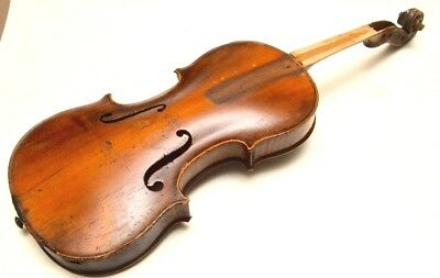 Antique French Violin for Restoration One Piece Back
