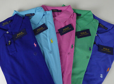 dac21f37be1 Polo Ralph Lauren SS 100% Cotton Mesh Polo Shirt w/ Embroidered Pony NWT $85
