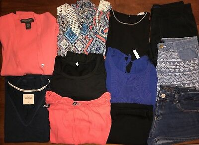 11 Pc Womens Lot H&M Forever 21 Old Navy Banana Republic Hollister 10 Large