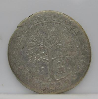 Costa Rica 1849 Jb Silver 1-Real! Very Good! Km# 66! Really Nice Old Coin! Look!
