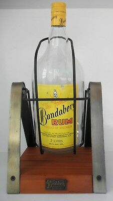 Bundaberg Rum #02 - Distillery, c1990's Bar Top Bottle Cradle Drinks Dispenser