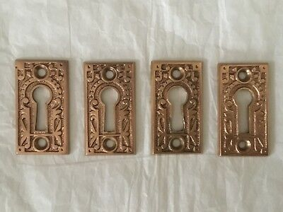 Antique Solid Brass 1880's East Lake Style Keyhole Back Plate