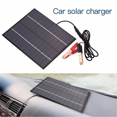 12V Car Camping Boat Auto Battery Charger 5.5W Solar Panel with Battery Clip