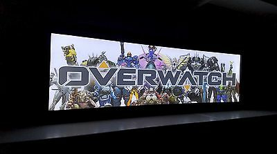 Overwatch Arcade Style Marquee Light Box