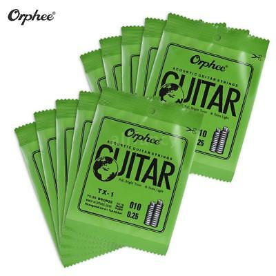 Orphee Single String Replacement for Acoustic Folk Guitar E-String (.010) G1W8