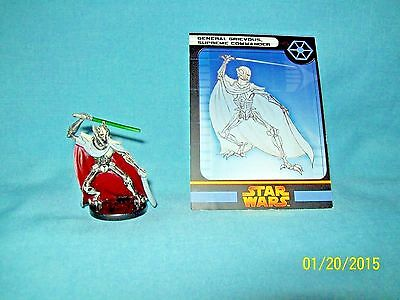 WotC Star Wars Miniatures General Grievous, Supreme Comdr, RotS 32/60, Sep, Rare