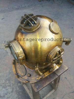 Scuba Diving Divers Solid Steel  Nautical Helmet U.S Mark V Origginal Antiqu