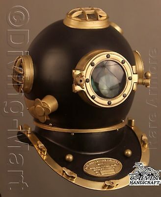 Diving Divers Super  Helmet Solid Navy Mark V Buy Steel Brass Handmade