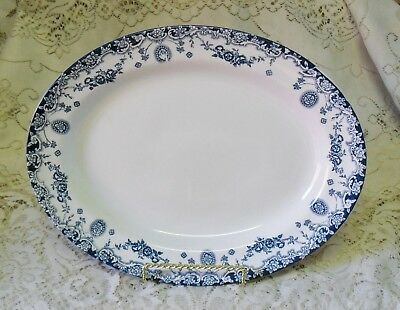 VINTAGE EMPIRE WARE SAVOY BLUE AND WHITE 29cm SERVING PLATTER DISH PLATE 1928-39